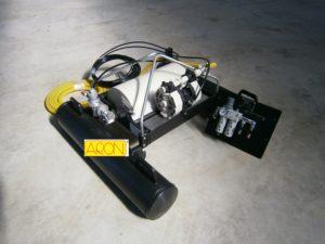 gli skimmer a rullo aron sono forniti completi di pompa, pannello pneumatico e tubazioni e pronti all'uso